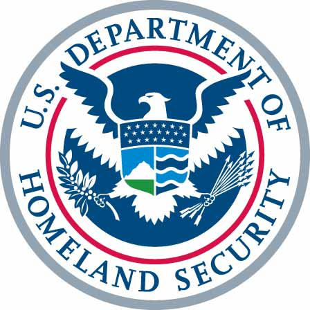 Homeland Security Homepage on Website Homeland Security Badge